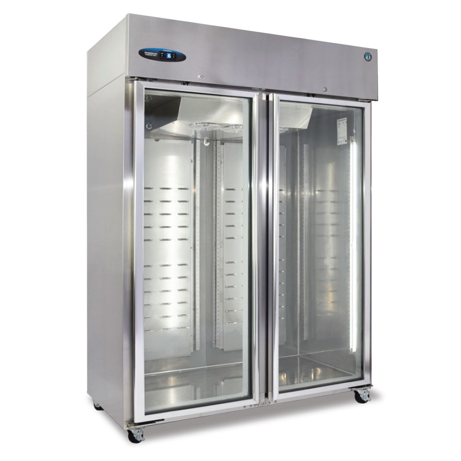 "Hoshizaki CF2B-FG 55"" Two Section Reach-In Freezer, (2) Glass Doors, 115v"
