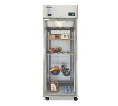"Hoshizaki CR1B-FG 28"" Single Section Reach-In Refrigerator, (1) Glass Door, 115v"