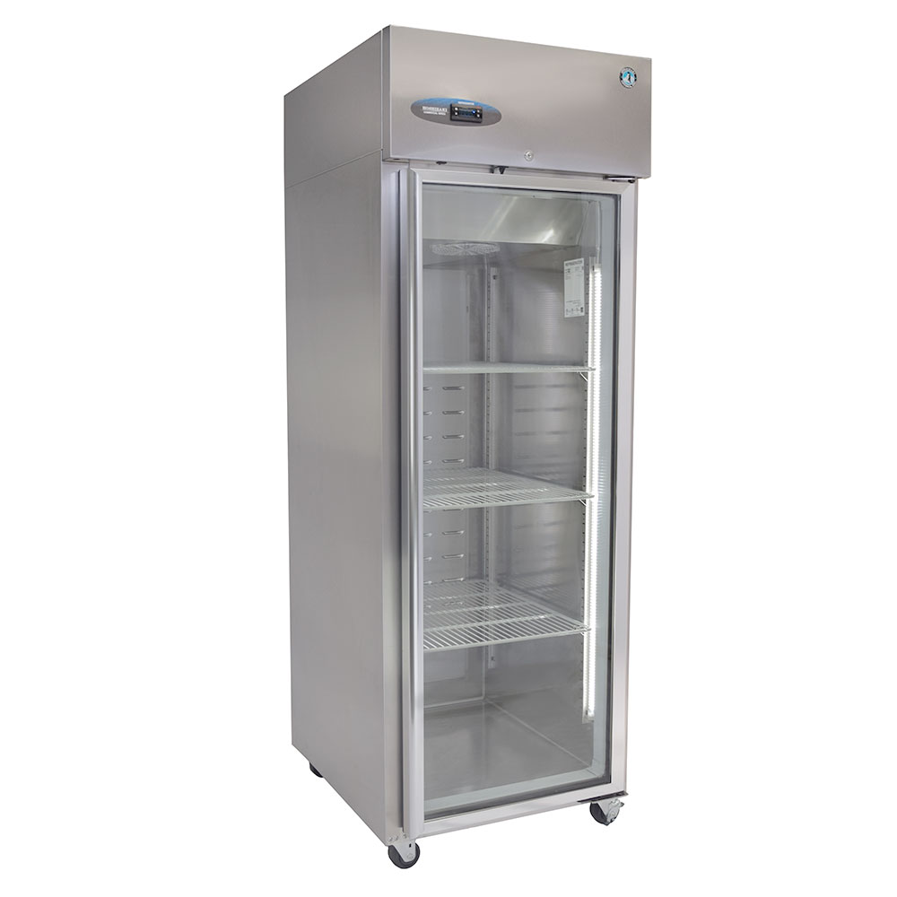 "Hoshizaki CR1S-FGE 27.5"" Single Section Reach-In Freezer, (1) Glass Door, 115v"