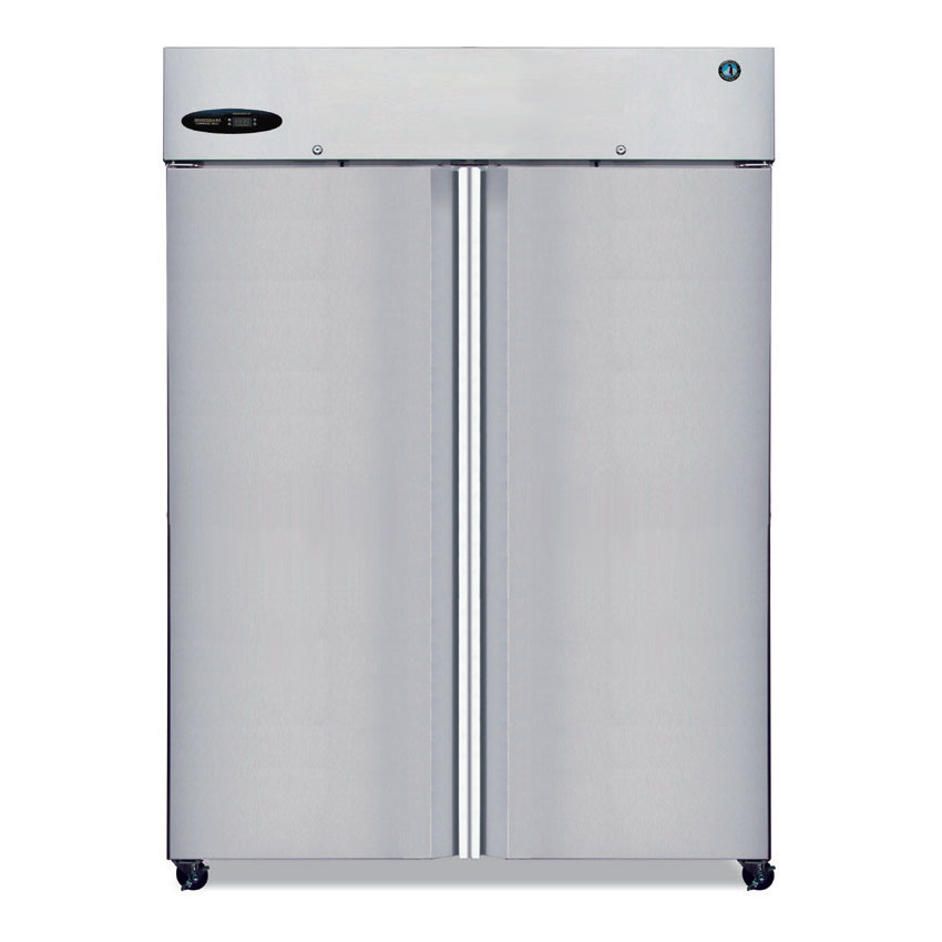"Hoshizaki CR2B-FS 56"" Two Section Reach-In Refrigerator, (2) Solid Door, 115v"
