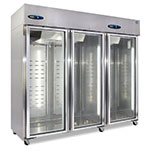 "Hoshizaki CR3S-FGE 83"" Three Section Reach-In Refrigerator, (3) Glass Doors, 115v"