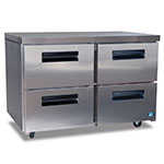 Hoshizaki CRMF48-D4 13.66-cu ft Undercounter Freezer w/ (2) Sections & (4) Drawers, 115v