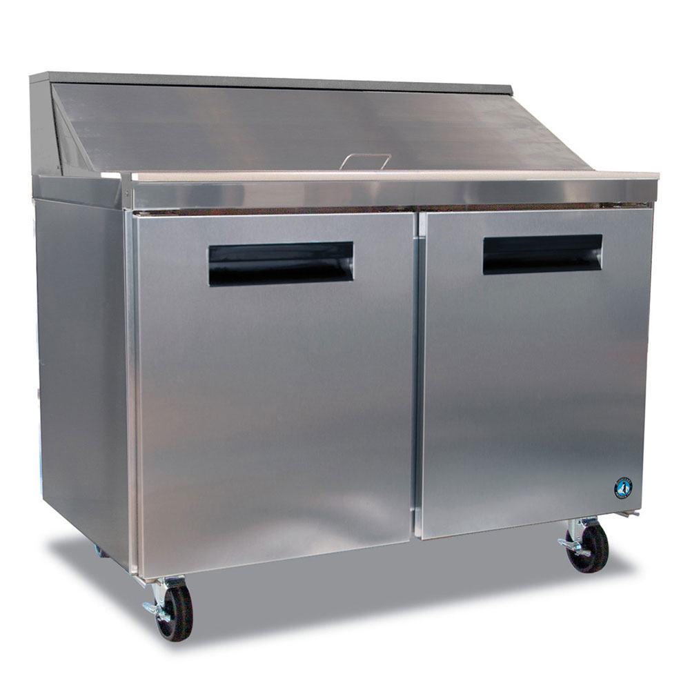"Hoshizaki CRMR48-12 48"" Sandwich/Salad Prep Table w/ Refrigerated Base, 115v"