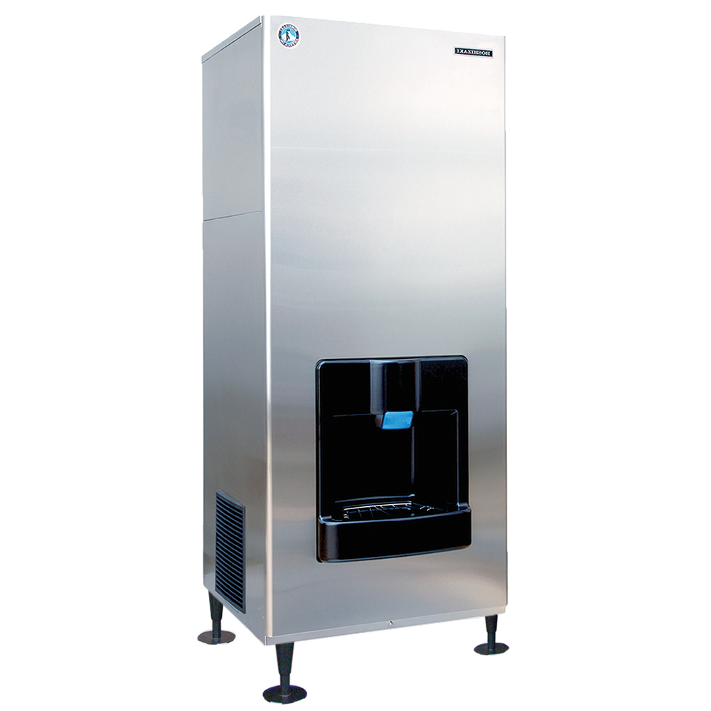 Hoshizaki DKM-500BAH Floor Model Cube Ice Dispenser w/ 200-lb Storage - Cup Fill, 115v