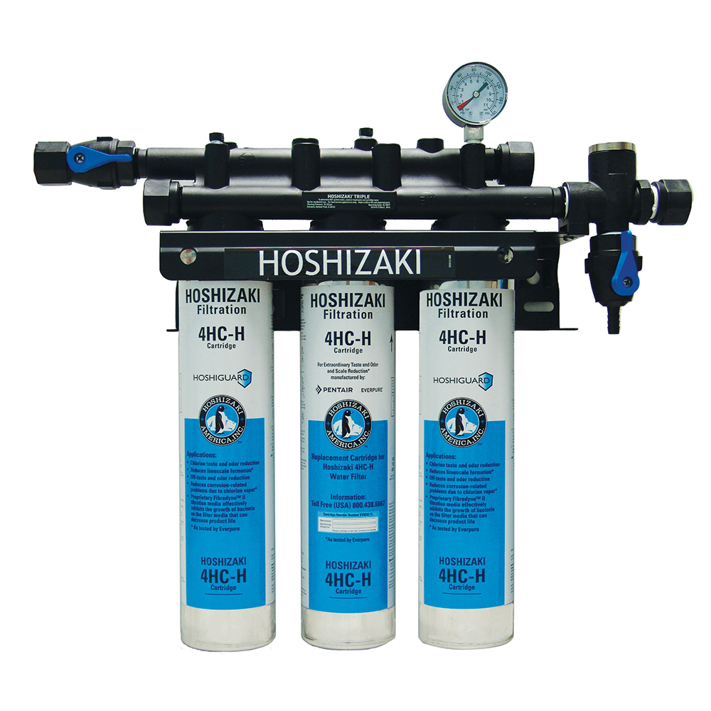 Hoshizaki H932053 Triple Primary Water Filter Cartridge Assembly, Tank