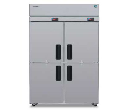 "Hoshizaki RFH2-SSB-HD 55"" Two Section Commercial Refrigerator Freezer - Solid Doors, Top Compressor, 115v"