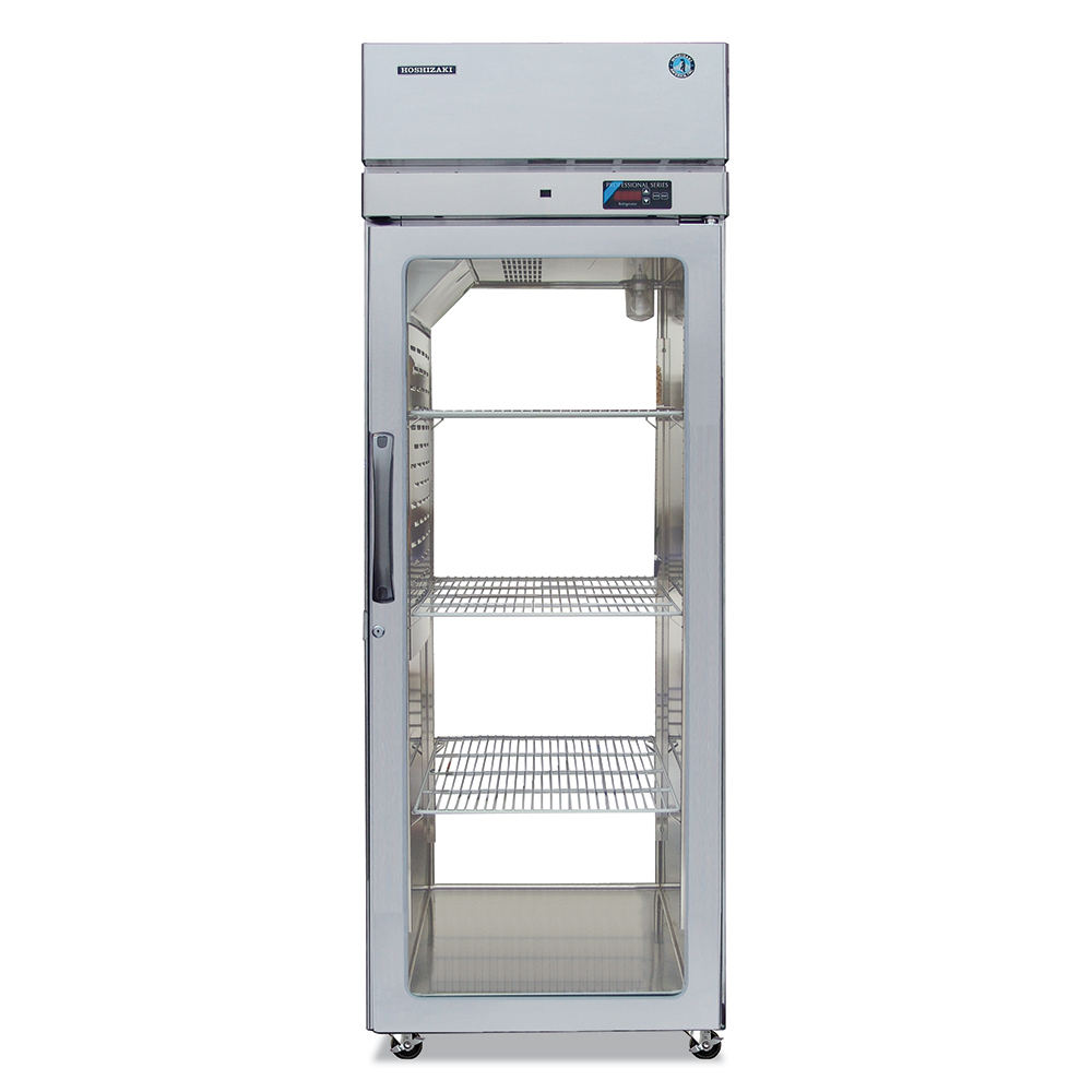"Hoshizaki PTR1SSE-FGFG 28"" Single Section Pass-Thru Refrigerator, (1) Glass Door, 115v"