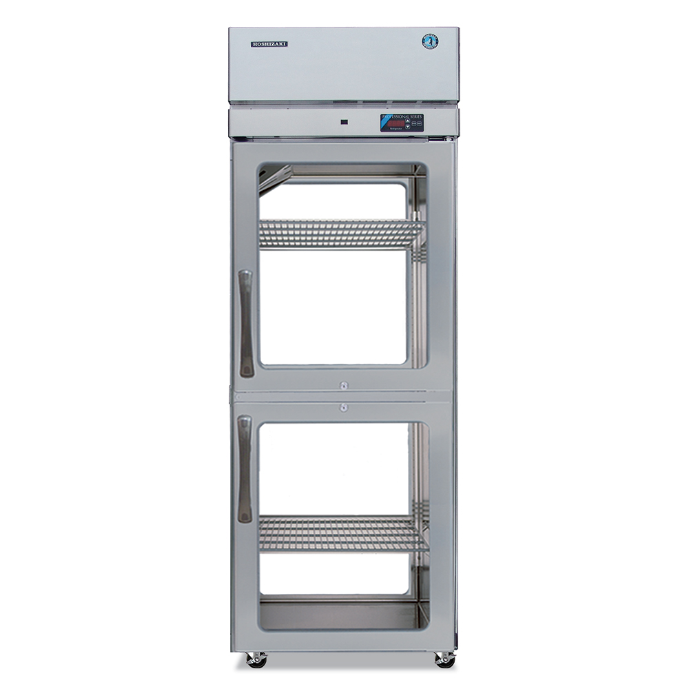 """Hoshizaki PTR1SSE-HGHG 28"""" Single Section Pass-Thru Refrigerator, (2) Glass Door, 115v"""