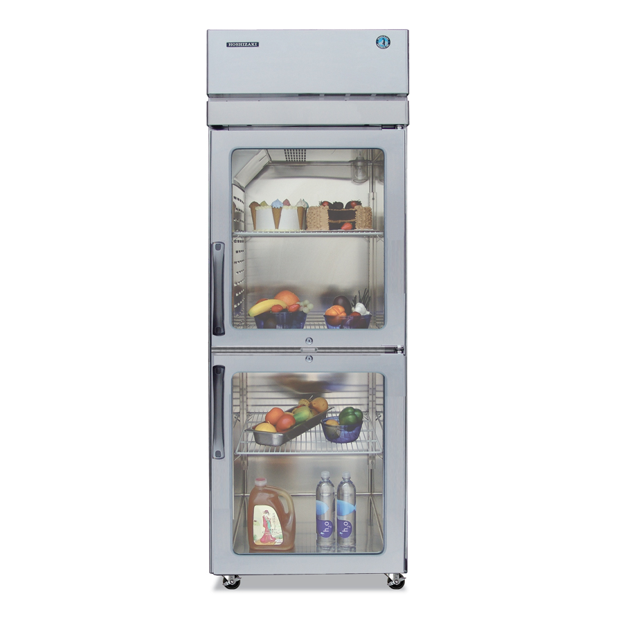 "Hoshizaki PTR1SSE-HGHS 28"" Single Section Pass-Thru Refrigerator, (2) Glass Door, 115v"