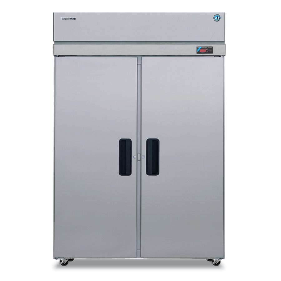 "Hoshizaki PTR2SSE-FSFS 55"" Two Section Pass-Thru Refrigerator, (2) Solid Door, 115v"
