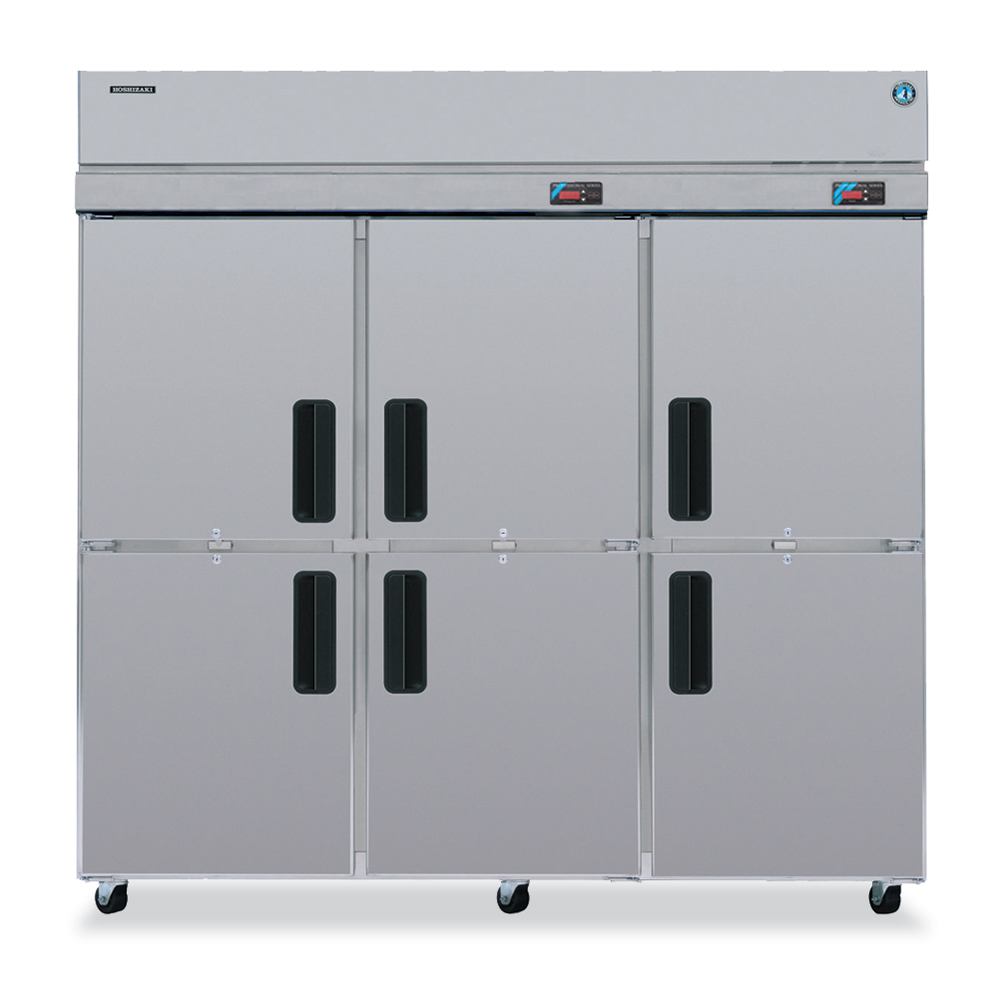 "Hoshizaki RFH3-SSB-HD 83"" Three Section Commercial Refrigerator Freezer - Solid Doors, Top Compressor, 115v"