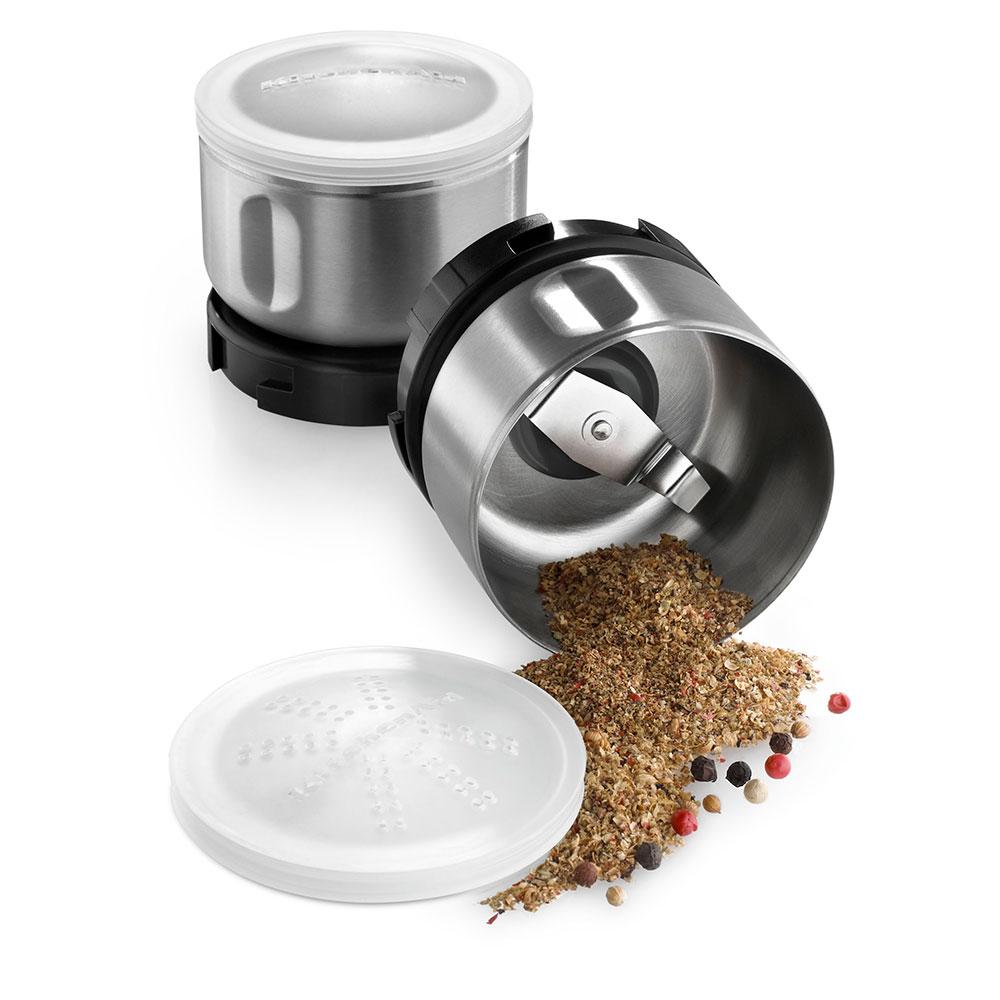 KitchenAid BCGSGA Spice Grinder Accessory Kit w/ 2-oz Stainless Bowl, Blade, Lid