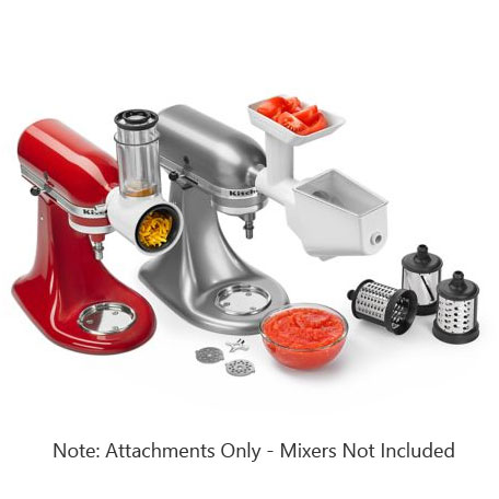 KitchenAid FPPA Mixer Attachment Pack - Rotor Slicer, Food Grinder and Fruit/Veg Strainer