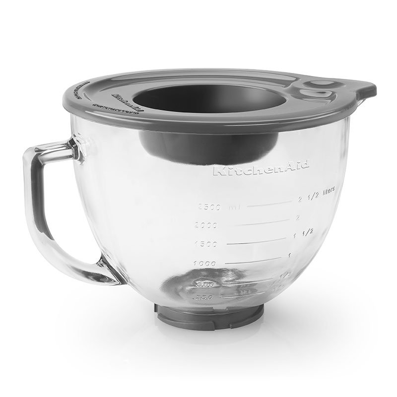 KitchenAid K5GB 5-qt Glass Bowl w/ Measurement Markings, Pour Spout, & Lid