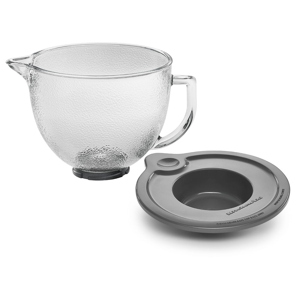 KitchenAid K5GBH Hammered Glass Bowl w/ Lid for 5-qt KitchenAid Stand Mixers