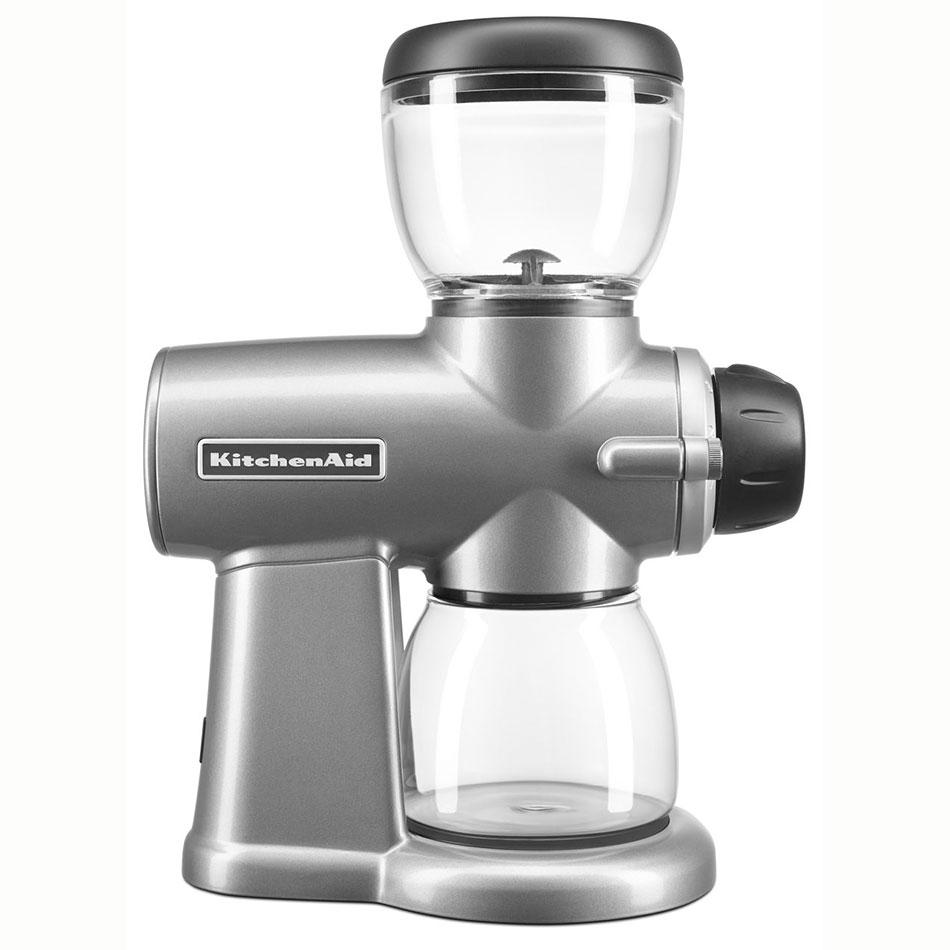 KitchenAid KCG0702CU 7-oz Burr Coffee Grinder w/ 15 Grind Settings, Contour Silver