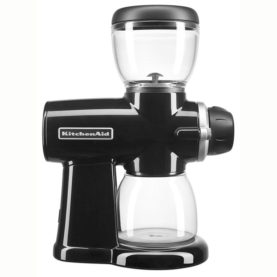 KitchenAid KCG0702OB 7-oz Burr Coffee Grinder w/ 15 Grind Settings, Onyx Black