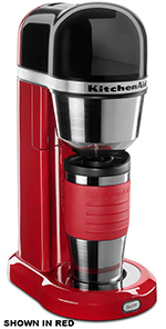 Kitchenaid KCM0402CU 18-oz Personal Coffee Maker - Insulated Mug, Contour Silver