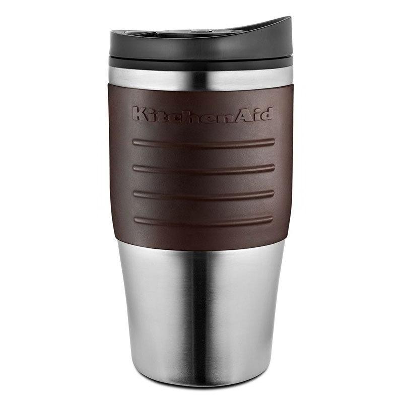 KitchenAid KCM0402TMES 18-oz Travel Coffee Mug for KCM0402 - Plastic Lid, Espresso Grip