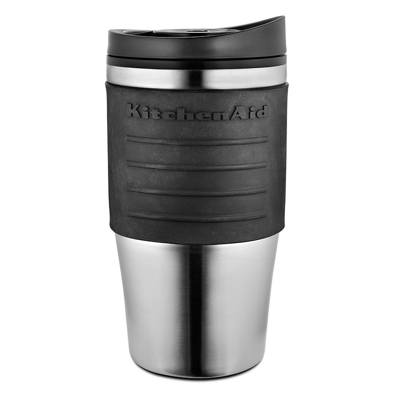 KitchenAid KCM0402TMOB 18-oz Replacement Travel Mug for KCM0402 - Plastic Lid, Black Grip