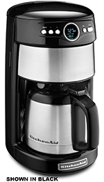 Kitchenaid KCM1203CU 12-Cup Thermal Carafe Coffee Maker w/ Digital Display, Silver