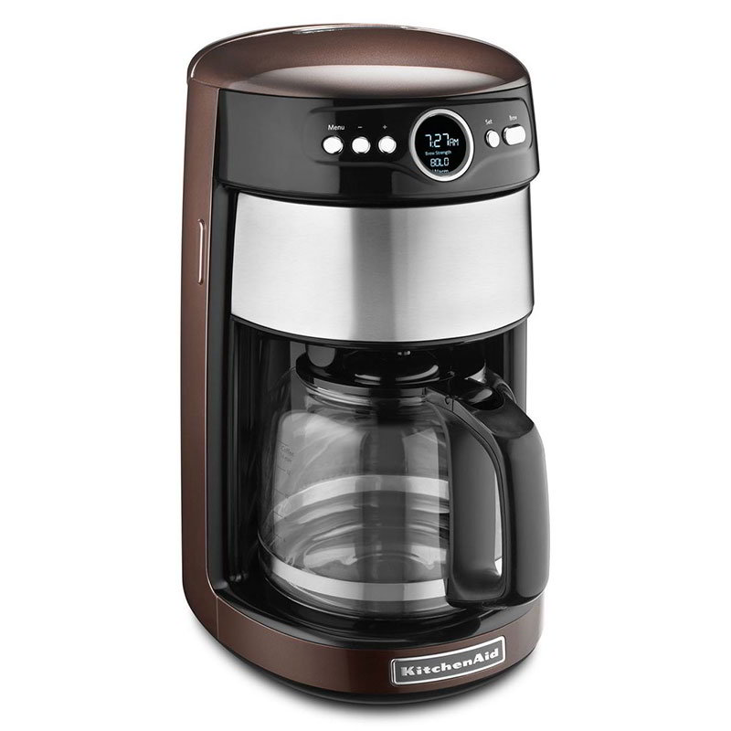 Kitchenaid KCM1402ES Coffee Maker w/ Digital Display & Control, 14-Cup, Espresso