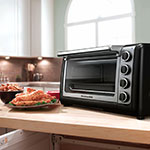 KitchenAid KCO111OB 10-in Countertop Oven w/ Bake, Broil & Roast, Onyx Black