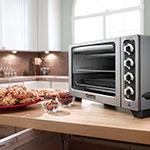 """KitchenAid KCO223CU 12"""" Countertop Convection Oven w/ Timer & Non-Stick Interior, Silver"""