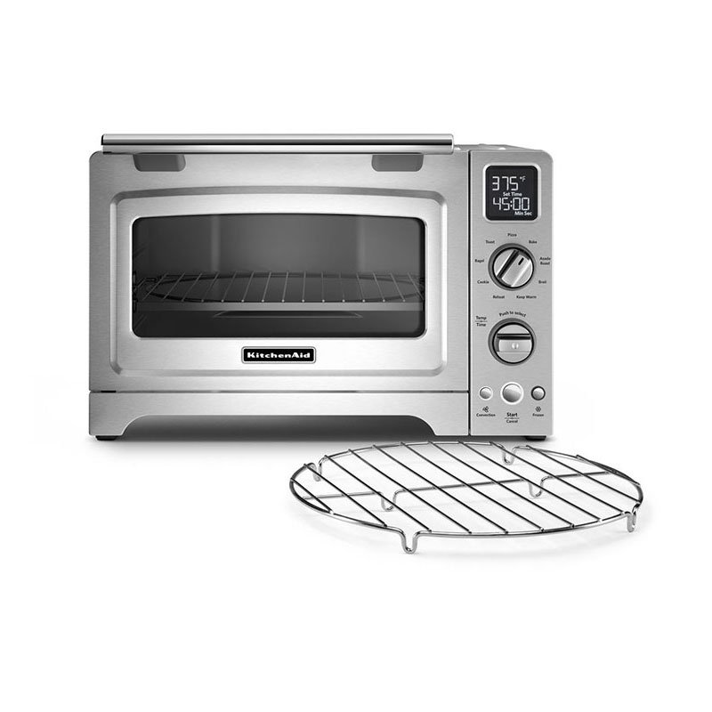 "KitchenAid KCO275SS 12"" Countertop Convection Oven w/ (9) Pre-Programmed Functions, Stainless"