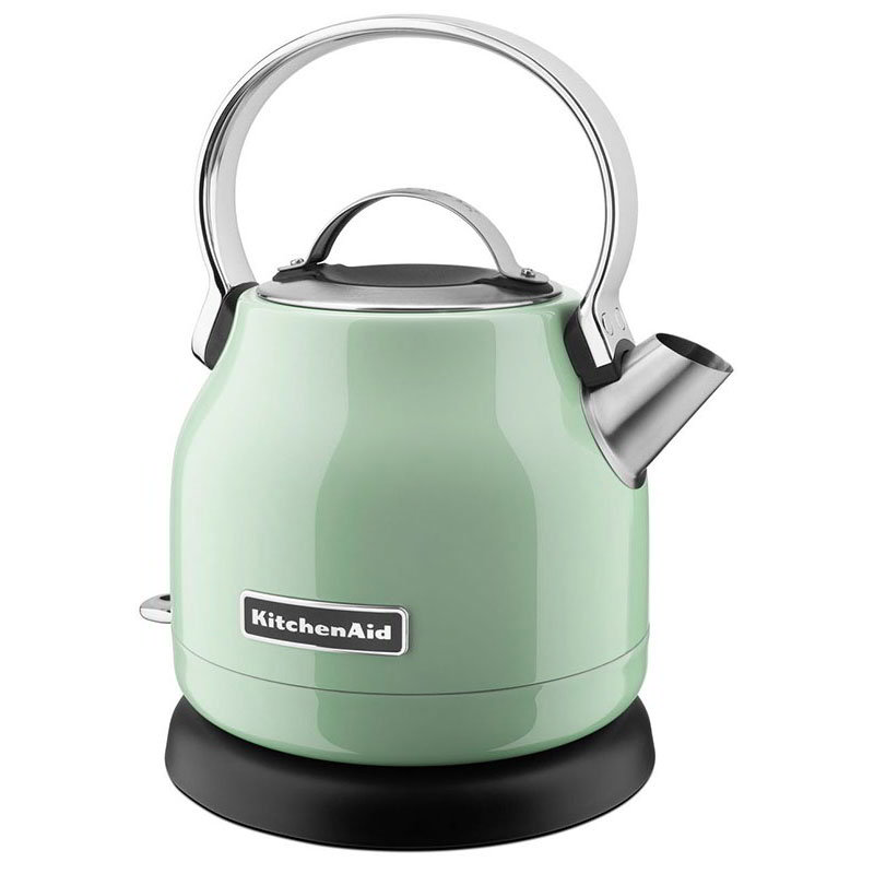 KitchenAid KEK1222PT 1.25L Electric Kettle w/ Removable Base, Lime Scale Filter, Pistachio