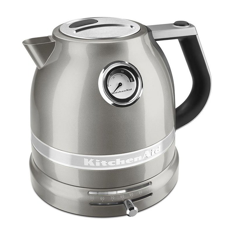 Kitchenaid KEK1522SR Pro Line Electric Kettle - 1.5-Liter, Temperature Control, Sugar Pearl Silver