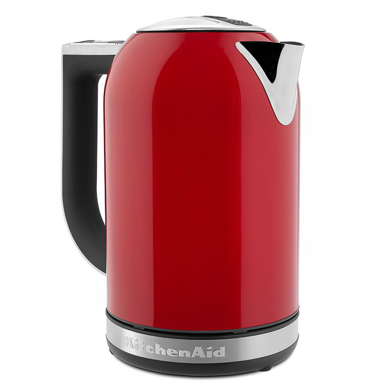 Kitchenaid KEK1722ER 1.7-L Electric Kettle - Measurement Markings, Digital Temp Display, Red