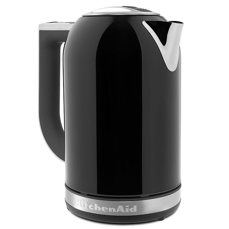 Kitchenaid KEK1722OB 1.7-L Electric Kettle - Measurement Markings, Digital Temp Display, Black