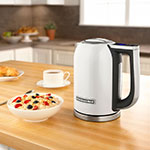 KitchenAid KEK1722WH 1.7L Electric Kettle w/ Cup Markings & Digital Temperature Display, White