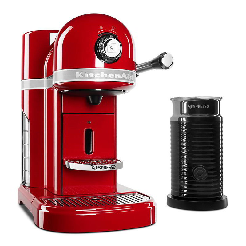 KitchenAid KES0504ER0 Nespresso® 1.3L Espresso Coffee Maker w/ Milk Frother, Red
