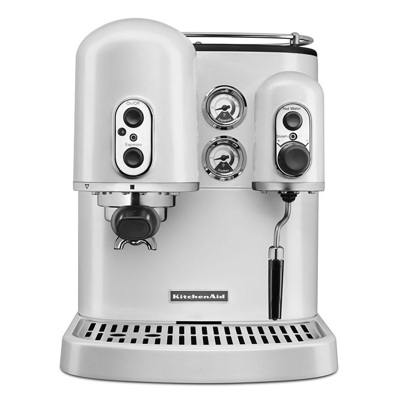 KitchenAid KES2102FP Pro Line Dual-Boiler Espresso Maker - Frosted Pearl White