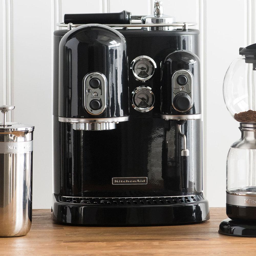KitchenAid KES2102OB Pro Line Series 7.5-cup Espresso Coffee Maker w/ Milk Frother, Black