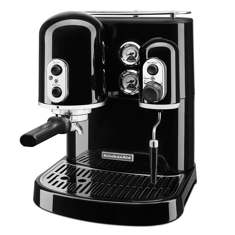 KitchenAid KES2102OB Pro Line Series 7.5-cup Espresso Coffee Maker w/ Milk Frother, Black