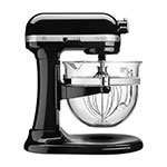 KitchenAid KF26M22OB 10-Speed Stand Mixer w/ 6-qt Glass Bowl & Accessories, Onyx Black, 120v