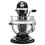 KitchenAid KF26M22OB 10-Speed Stand Mixer w/ 6-qt Glass Bowl & Accessories, Onyx Black, 120v