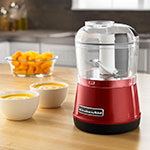 KitchenAid KFC3511ER 2-Speed Food Chopper w/ 3.5-cup Capacity, Chopper Bowl & Lid, Empire Red
