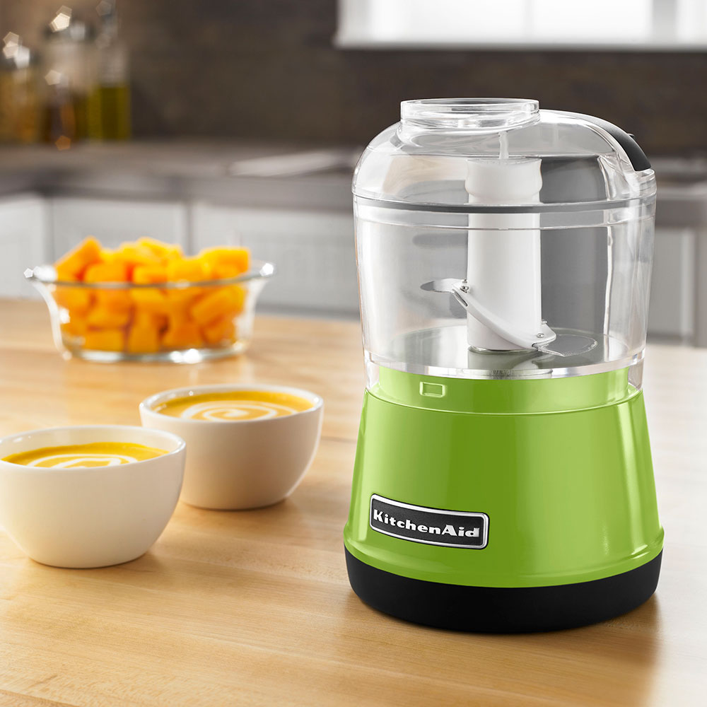 KitchenAid KFC3511GA 2-Speed Food Chopper w/ 3.5-cup Capacity, Chopper Bowl & Lid, Green Apple