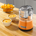 KitchenAid KFC3511TG 2-Speed Food Chopper w/ 3.5-cup Capacity, Chopper Bowl & Lid, Tangerine