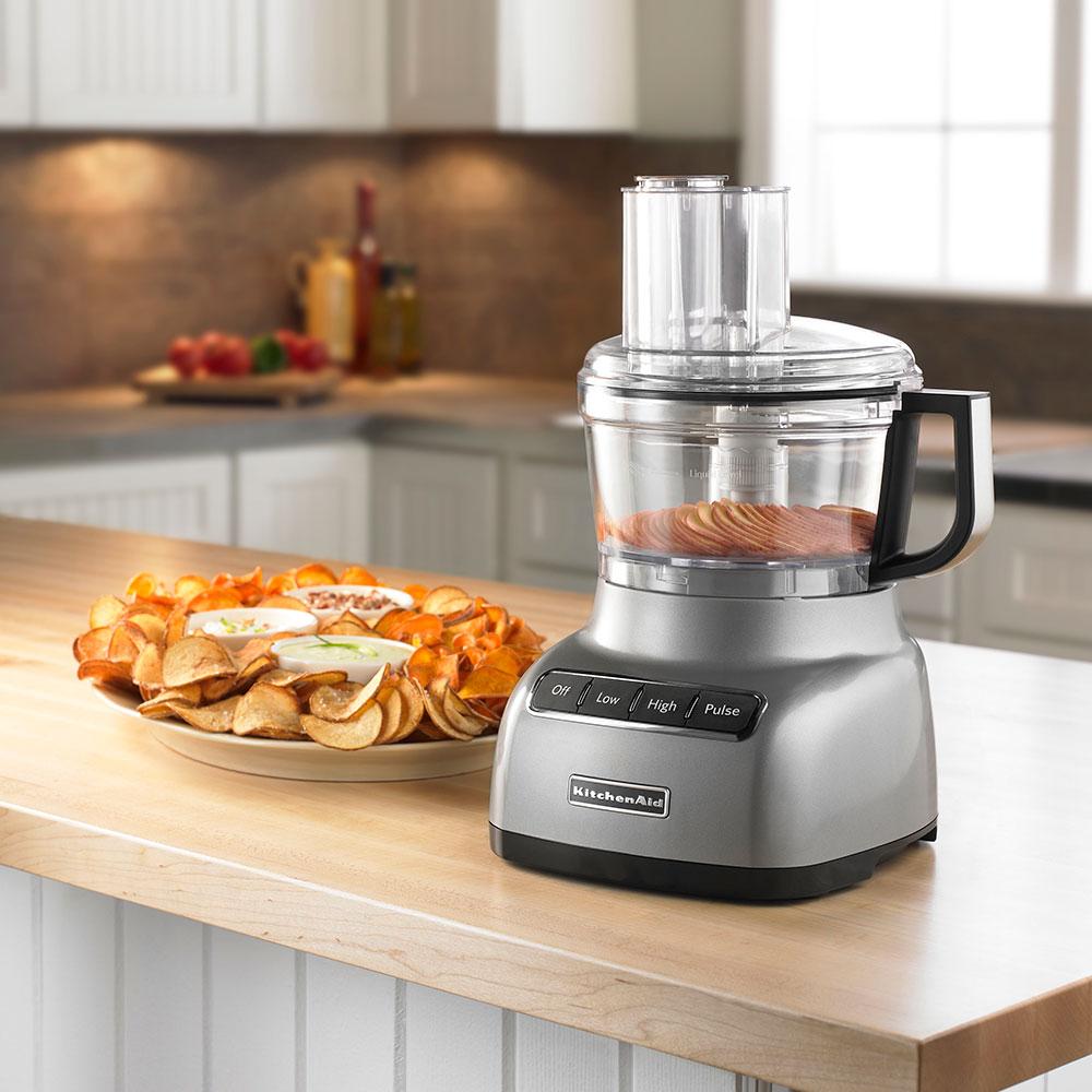 KitchenAid KFP0711CU 3-Speed Food Processor w/ 7-Cup Capacity, Contour Silver