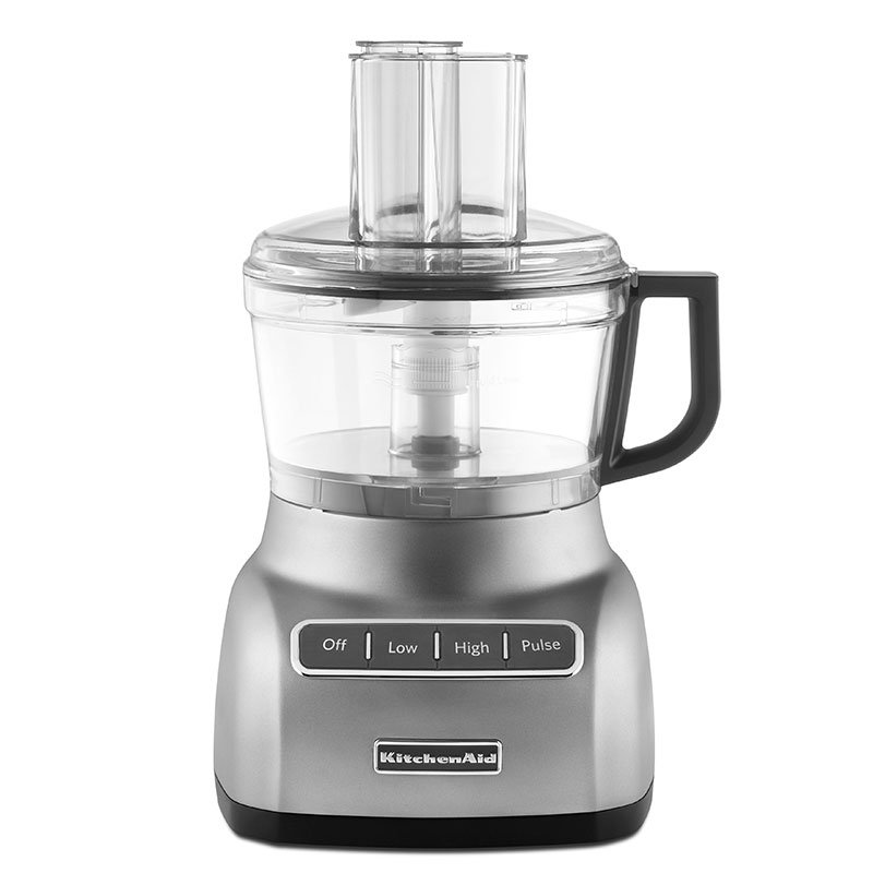 KitchenAid KFP0711CU 7-Cup Food Processor w/ Wide Mouth Feed Tube, Contour Silver