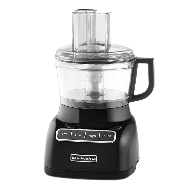 KitchenAid KFP0711OB 3-Speed Food Processor w/ 7-Cup Capacity, Onyx Black