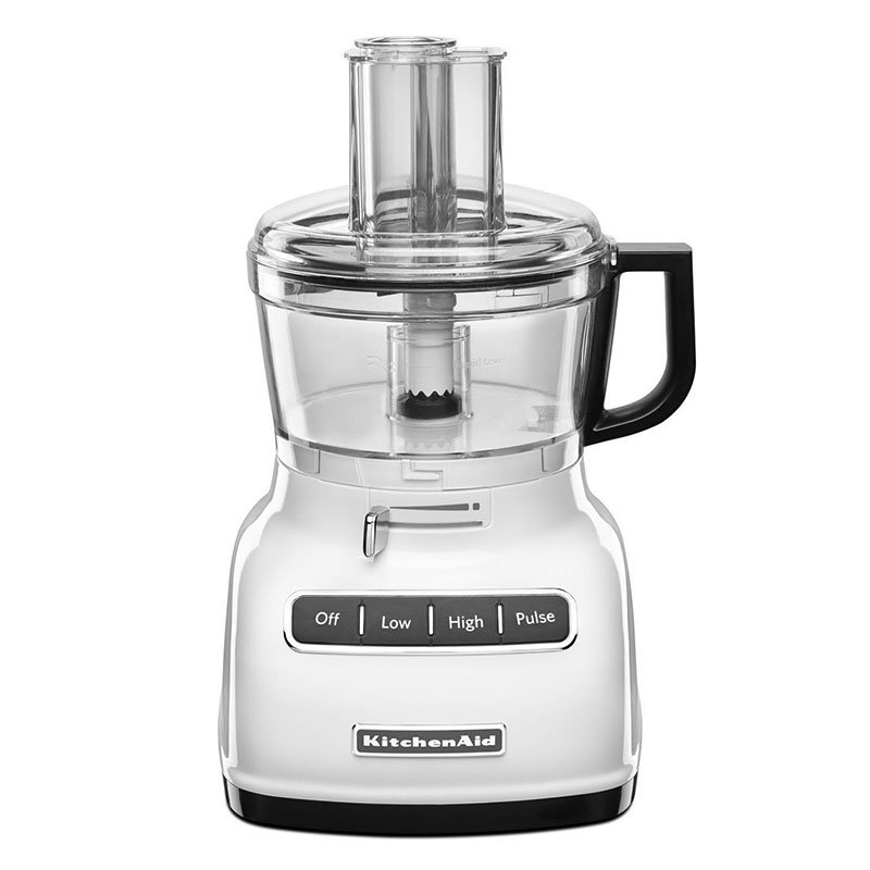 KitchenAid KFP0722WH 3-Speed Food Processor w/ 7-Cup Capacity, White