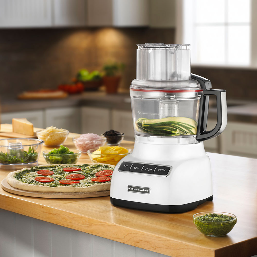 KitchenAid KFP0922WH 3-Speed Food Processor w/ 9-Cup Capacity, White