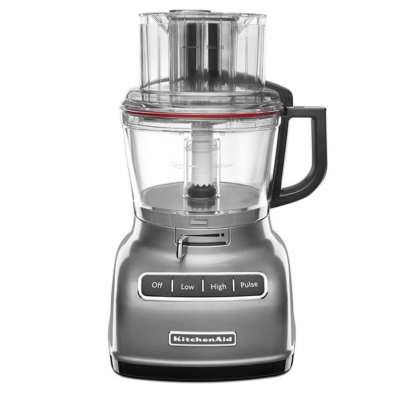 KitchenAid KFP0933CU 3-Speed Food Processor w/ 9-Cup Capacity, Contour Silver