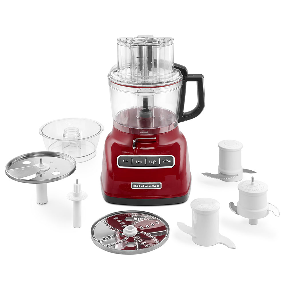 KitchenAid KFP0933ER 3-Speed Food Processor w/ 9-Cup Capacity, Empire Red